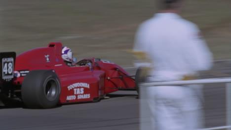 Formula-cars-race-on-a-circuit-track
