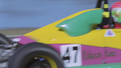 A-racing-car-drives-around-the-track