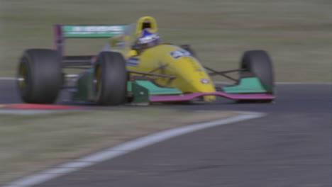 A-race-car-enters-into-a-tight-corner
