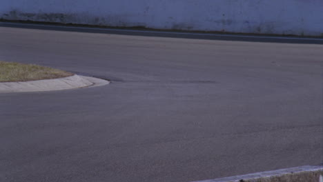 A-race-car-speeds-into-a-tight-corner