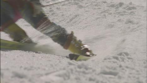 A-skier-navigates-a-down-hill-slalom-course-1