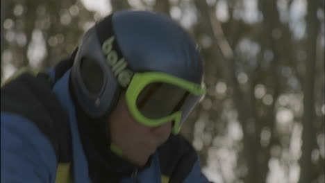 A-skier-prepares-to-take-off-down-a-slope