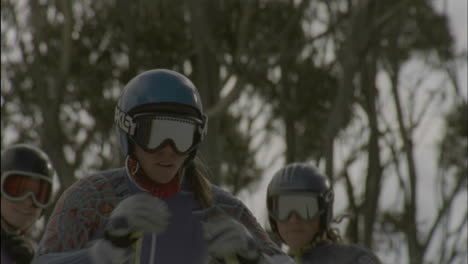 A-skier-launches-herself-off-of-the-starting-line