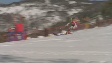 A-skier-navigates-a-down-hill-slalom-course-2
