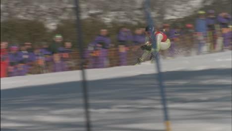 A-skier-races-through-a-down-hill-slalom