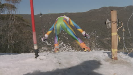 A-competitive-skier-starts-a-downhill-run