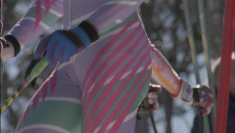 Un-Esquiador-Se-Estira-Antes-De-Esquiar