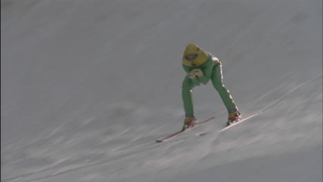 A-skier-races-down-a-slope