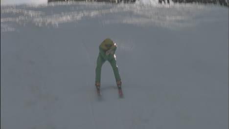 A-skier-navigates-down-a-slope