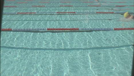 Female-swimmers-race-across-a-pool