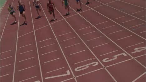 A-group-of-men-running-a-race