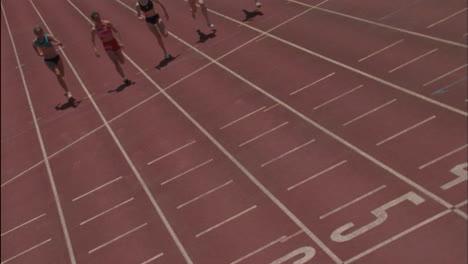 A-group-of-five-women-run-a-race