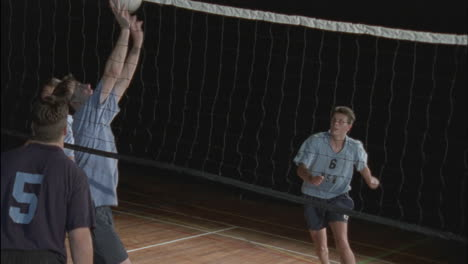 Men-s-teams-play-a-game-of-volleyball