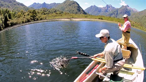 Bob-Goodman-and-Jan-Albertz-on-flyfishing-adventure-on-Ceasar-Lake-in-Parque-Nacional-Corcovado-in-Southern-Chile