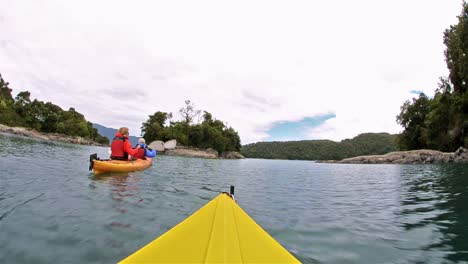 Point-of-view-kayaking-along-the-Bahia-Tictoc-coastline-in-the-Northern-Patagonia-region-in-Southern-Chile