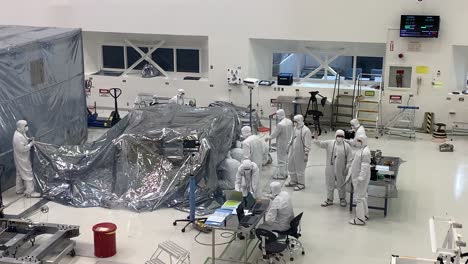 Scientists-at-NASA-Jet-Propulsion-Laboratory-JPL-work-in-controlled-lab-conditions-to-build-and-test-the-Mars-Rover-4