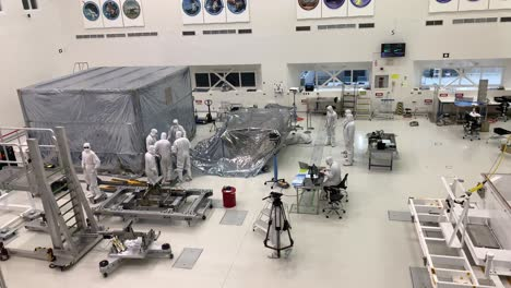 Scientists-at-NASA-Jet-Propulsion-Laboratory-JPL-work-in-controlled-lab-conditions-to-build-and-test-the-Mars-Rover-5