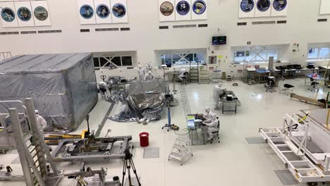 Scientists-at-NASA-Jet-Propulsion-Laboratory-JPL-work-in-controlled-lab-conditions-to-build-and-test-the-Mars-Rover-7