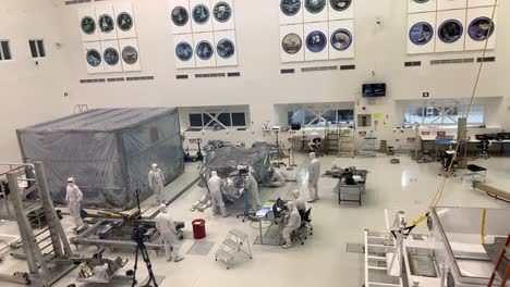 Scientists-at-NASA-Jet-Propulsion-Laboratory-JPL-work-in-controlled-lab-conditions-to-build-and-test-the-Mars-Rover-9