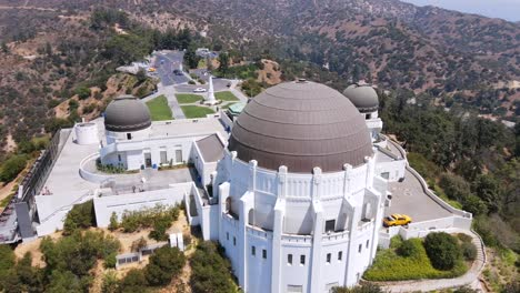 Good-Rising-Aerial-Of-The-Griffith-Park-Observatory-In-Los-Angeles-California