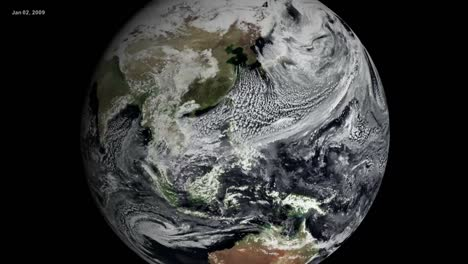 Nasa-Animation-Of-A-Globe-Spinning-From-Space-With-An-Emphasis-On-Global-Warming-And-Climate