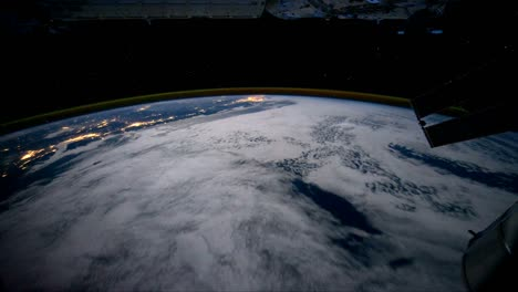 Pov-Shot-Flying-Over-The-Earth-From-Space