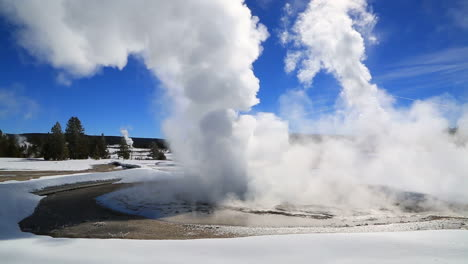 A-Geothermal-Region-In-Yellowstone-National-Park-In-Winter