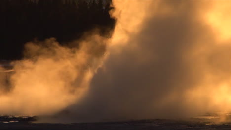 A-Geyser-Erupts-In-Yellowstone-National-Park