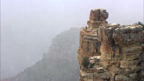 Heavy-Snow-Falls-On-The-Rim-Of-The-Grand-Canyon