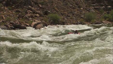 White-Water-Kayaker-Navigates-The-Grand-Canyon