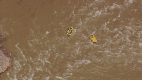 Rafters-In-The-Grand-Canyon-From-Directly-Above