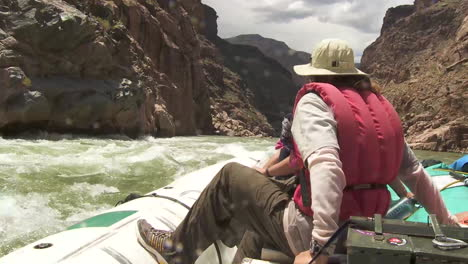 Pov-Of-White-Water-Rafters-Navigate-The-Grand-Canyon