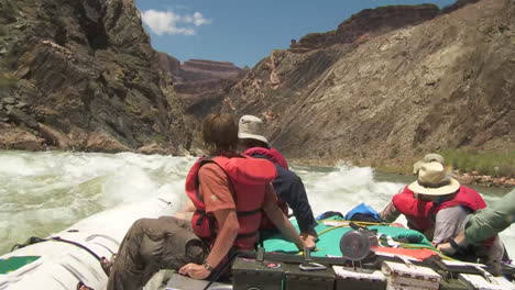 Pov-Of-White-Water-Rafters-Navigate-The-Grand-Canyon-2