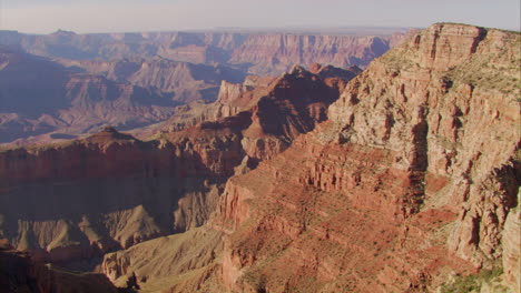 Beautiful-Aerial-Over-Grand-Canyon-Rim-At-Dawn
