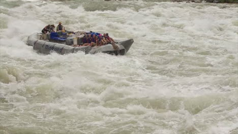 Spectacular-Shot-Of-White-Water-Rafters-Navigating-The-Grand-Canyon