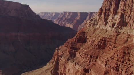 Beautiful-Aerial-Over-Grand-Canyon-Rim-At-Dawn-3