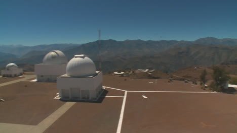 Pan-Across-An-Observatory-On-A-Mountaintop-Day