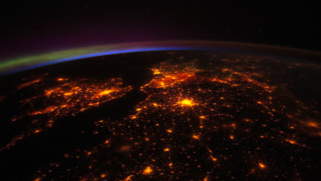 The-International-Space-Station-Flies-Over-Western-Europe-At-Night