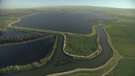Aerial-Over-California-Delta-Region-And-Lakes-Near-Sacramento