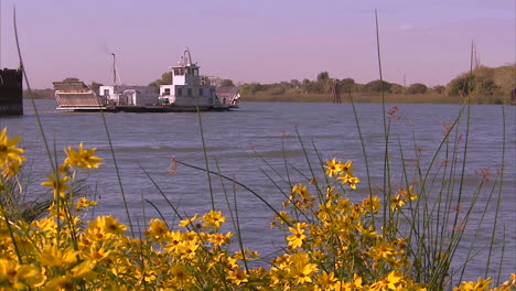 Commercial-Barges-On-The-American-Or-Sacramento-River-In-The-San-Joaquin-Delta-Of-California