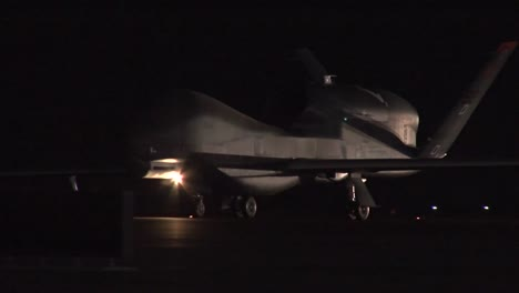 The-Rq4-Drone-Surveillance-Aircraft-Is-Rolled-Out-At-Night-At-An-Undisclosed-Us-Military-Base