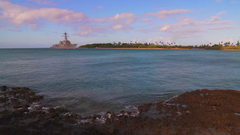 A-Guided-Missile-Destroyer-Navy-Ship-Passes-Near-Hickam-Base-In-Hawaii-5