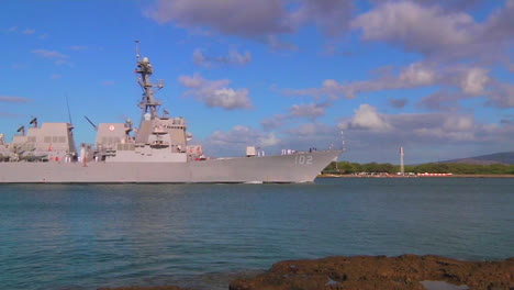 A-Guided-Missile-Destroyer-Navy-Ship-Passes-Near-Hickam-Base-In-Hawaii-6