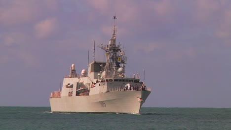 The-Canadian-Navy-Ship-Calgary-Halifax-Class-Frigate-Sails-Near-Hawaii