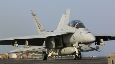 Fighter-Jets-Land-On-An-Aircraft-Carrier