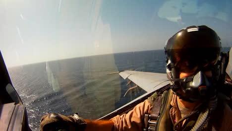 Pov-Shot-Of-A-Fighter-Jet-Landing-On-An-Aircraft-Carrier-3