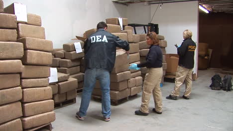 The-Dea-Confiscates-Thousands-Of-Pounds-Of-Illegal-Drugs-From-A-Mexican-Drug-Tunnel-At-Otay-Mesa-California