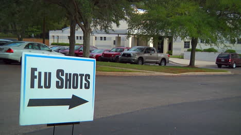 A-Sign-Outside-A-Medical-Clinic-Advertises-Flu-Shots
