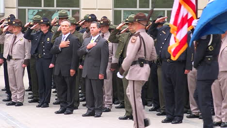 A-Police-Funeral-Procession-Honors-A-Fallen-Officer