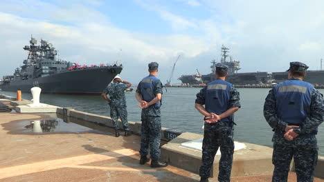 A-Russian-Navy-Vessel-Sails-Into-Port-1